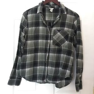 Forever 21 green plaid flannel